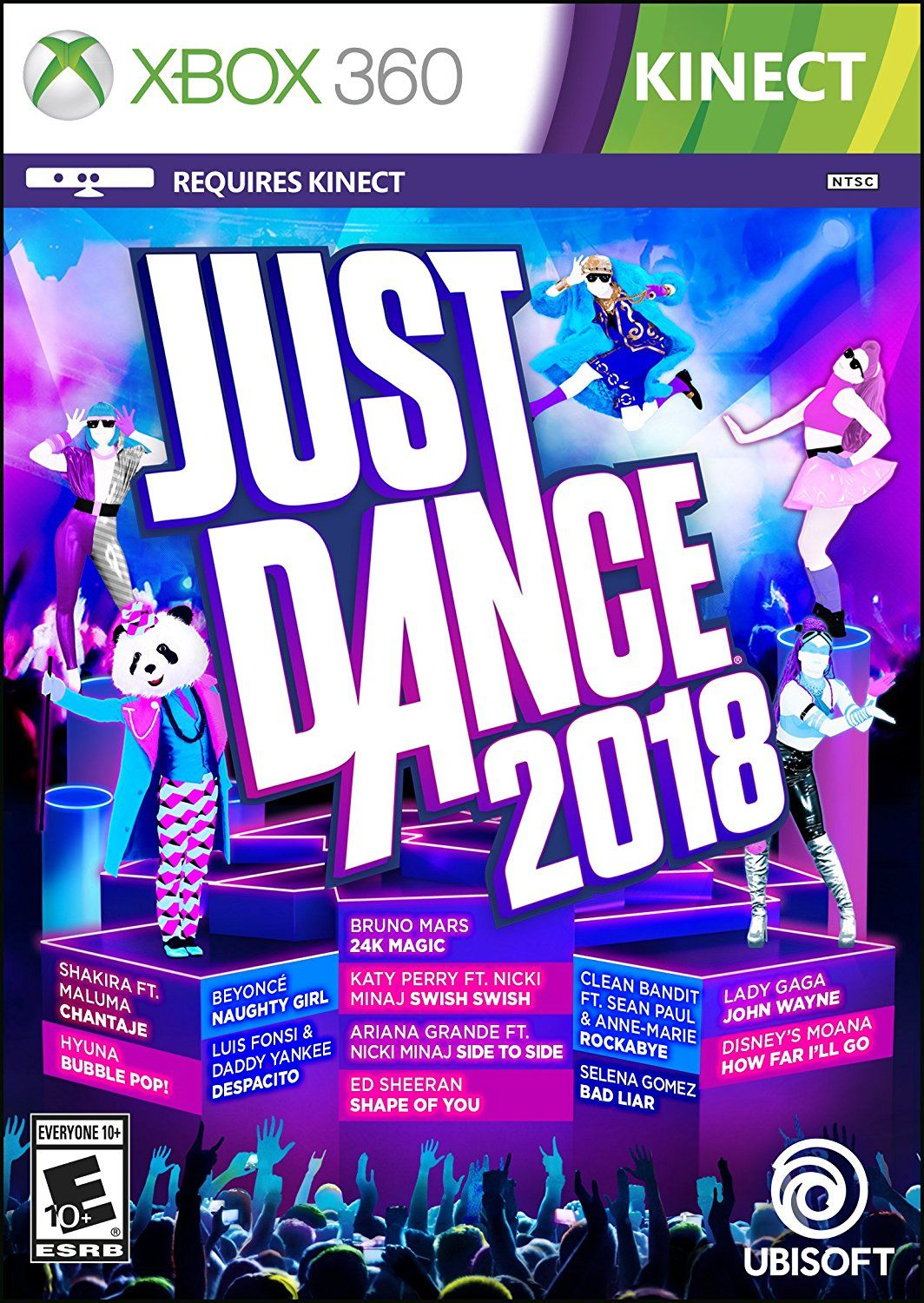 Just Dance 2018 Game Cover Xbox 360 Video Games Xbox 360 Xbox