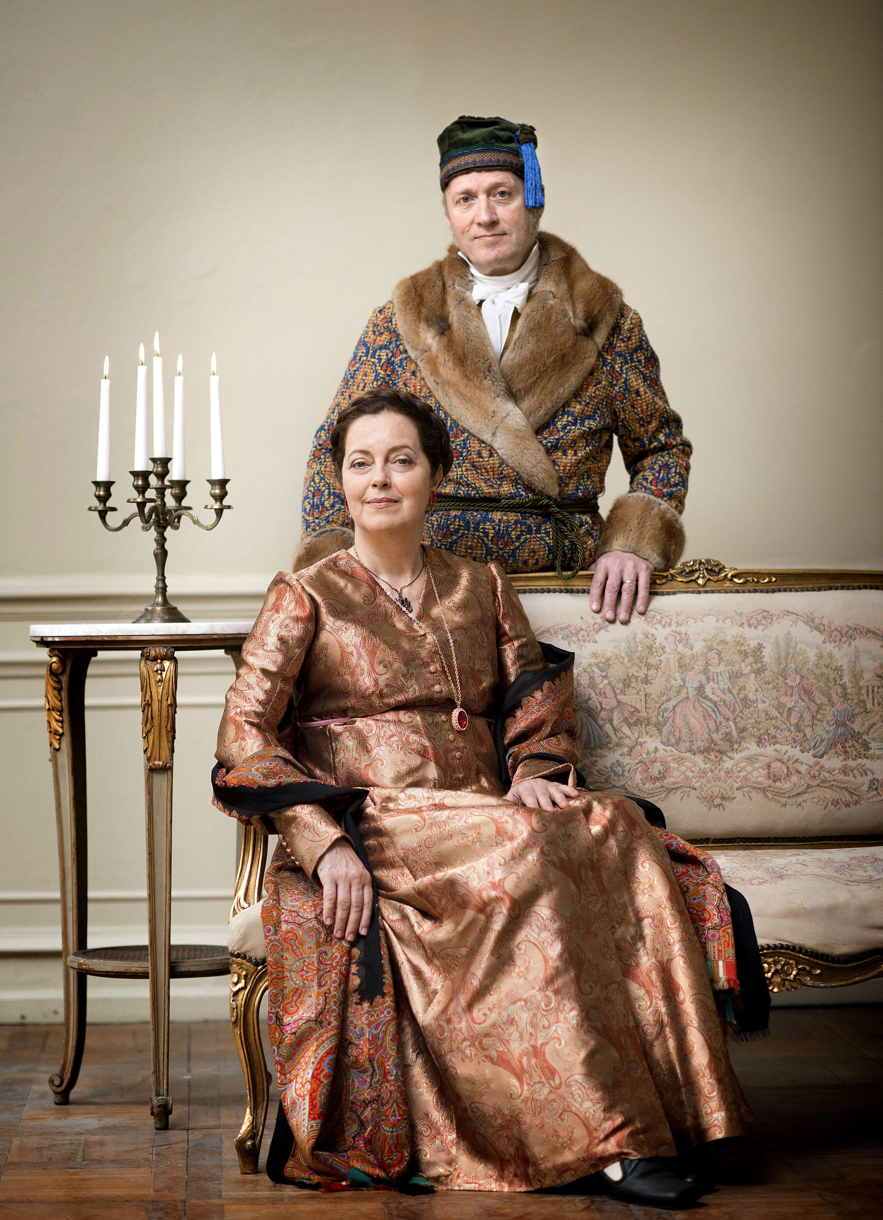 War And Peace Countess Natalya Rostova And Count Ilya Rostov Peace Costume War And Peace Bbc Costumes