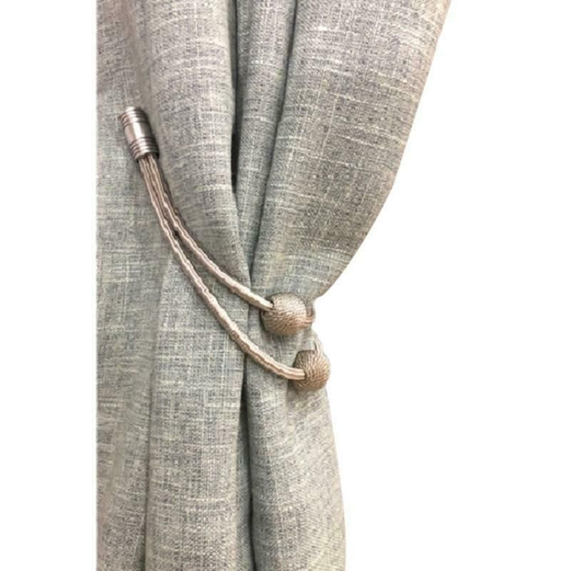 Details About 1 Piece Euro Style Magnetic Curtain Tieback With