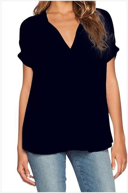 eaae272215c Women Blouses Shirts Casual Short Sleeve Blouse Summer Ladies Tops Tees  Blouse Clothing