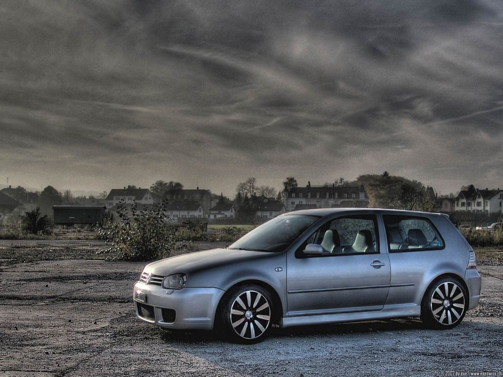 Volkswagen Golf GTI R Car Wheels Tuning HD Wallpaper FreeWallsUp