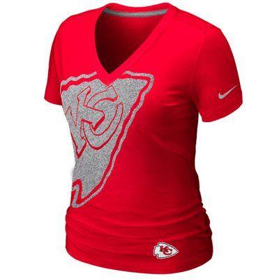 Nice Fanatics Nike Kansas City Chiefs Ladies Tri Blend Reverse Logo T  supplier