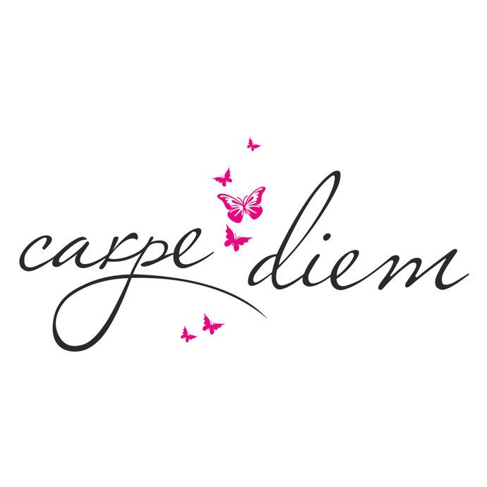 Carpe Diem Butterfly design grafico SVG DXF EPS Png Cdr, Ai, Pdf Vector Art, Clipart download immediato Download digitale stampa file stampa t-shirt vinile