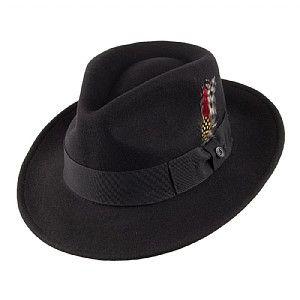 affc2d08597 Bailey Hats Darron Crushable Pork Pie Hat - Black from Village Hats.