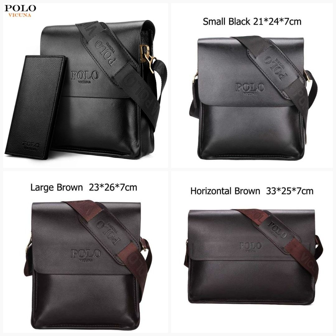 a550780480 VICUNA POLO Famous Brand Leather Men Bag Casual Business Leather Mens  Messenger Bag Vintage Men s Crossbody