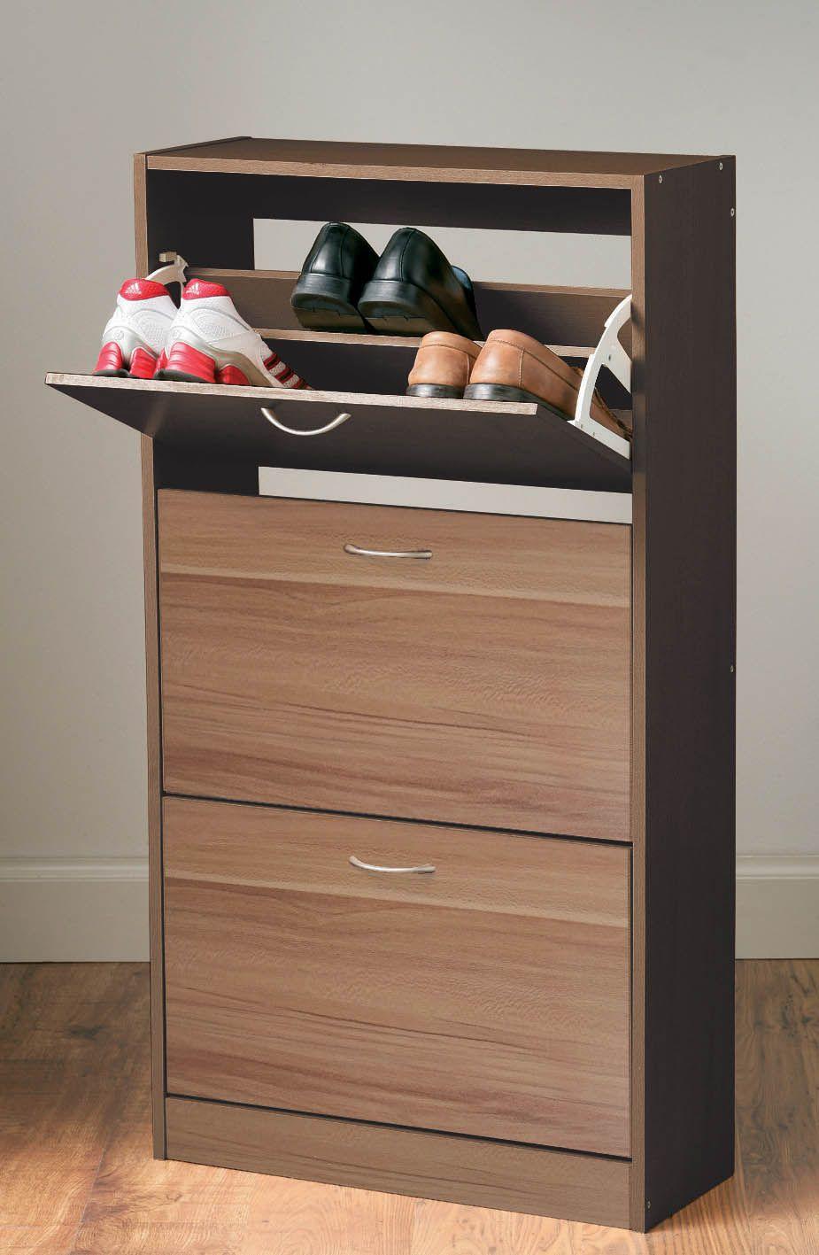 Norsk Shoe Cupboard Shoe Organiser Storage Rack Unit 3 Drawer