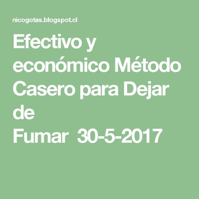 Efectivo y económico Método Casero para Dejar de Fumar30-5-2017