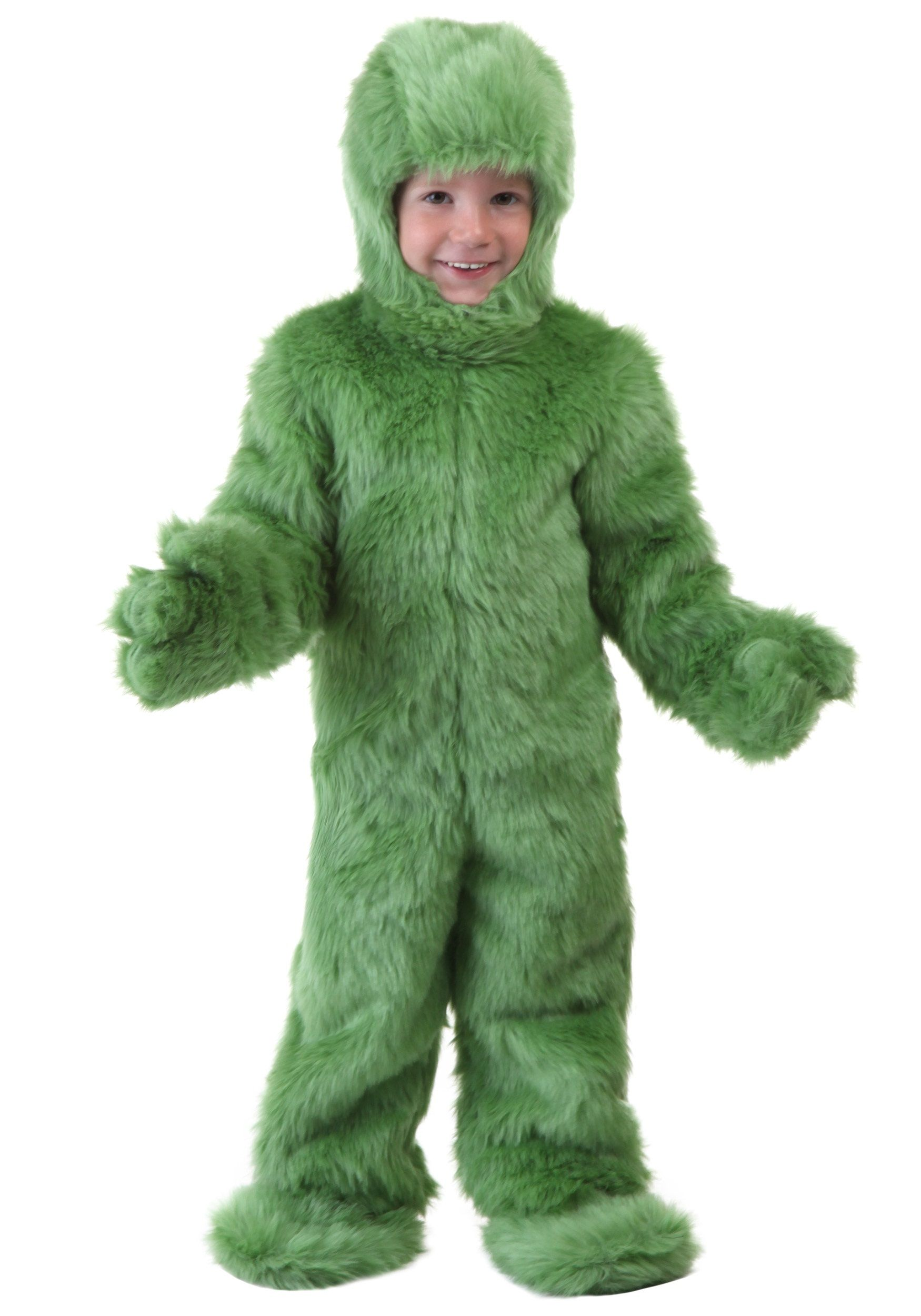 Toddler Green Furry Jumpsuit | Baby Halloween Costumes | Pinterest ...