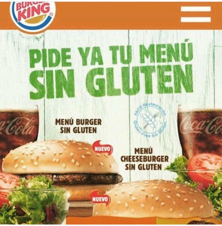 Gluten Free Menu In Burger King Spain