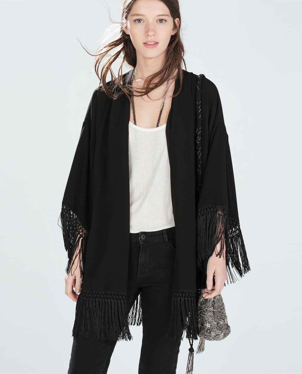 Chaqueta kimono Zara mujer | eBay