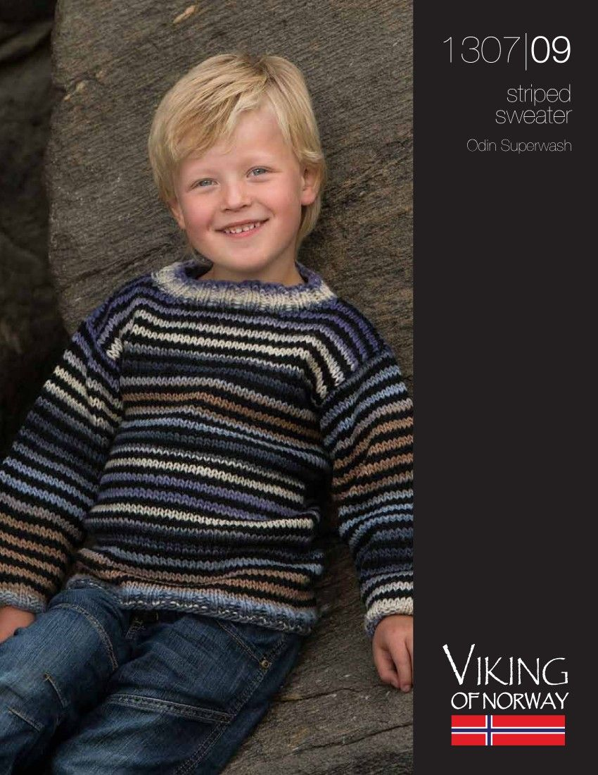 FREE...Odin Superwash Striped Sweater – 1307-09 | Knitting Fever ...