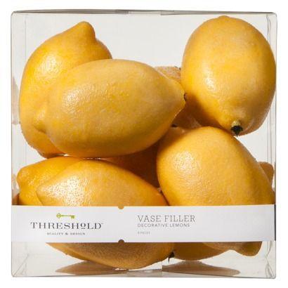 Threshold 8 Count Lemon Vase Filler Yellow Not Sold Online Look