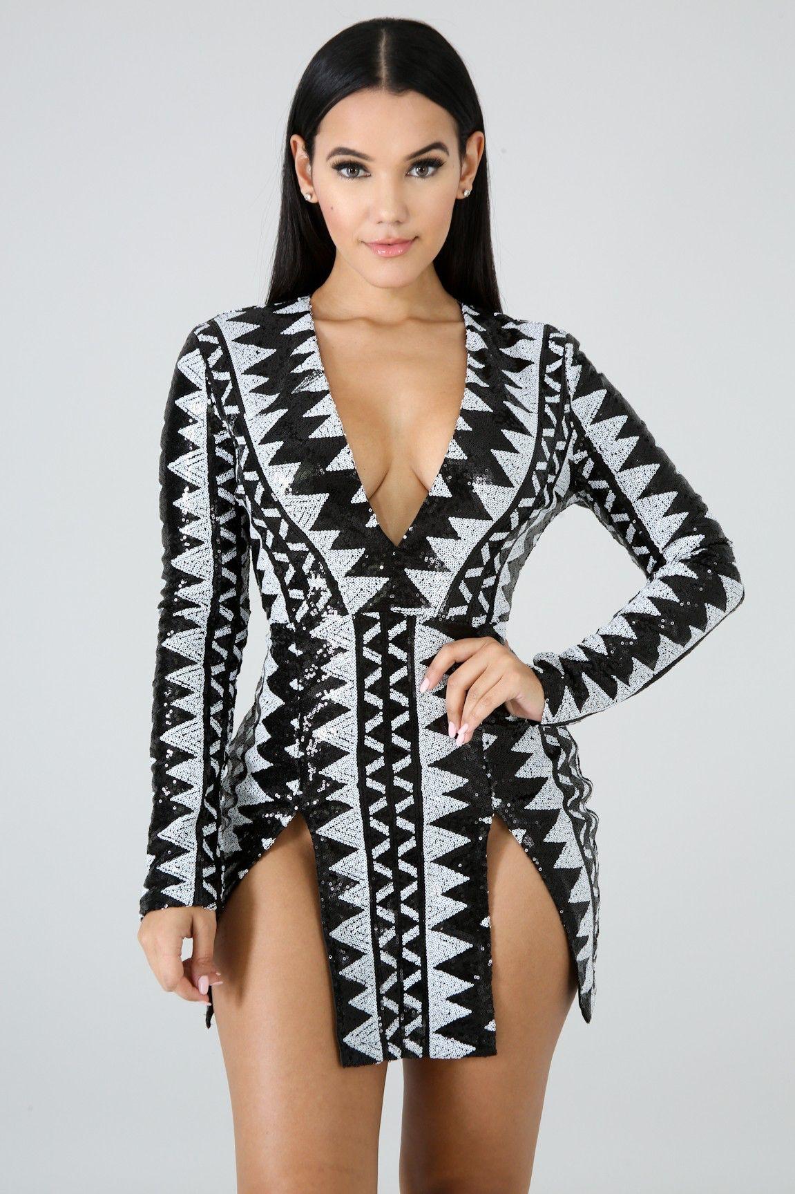 Blacksilver mini dress going out dresses mini dress
