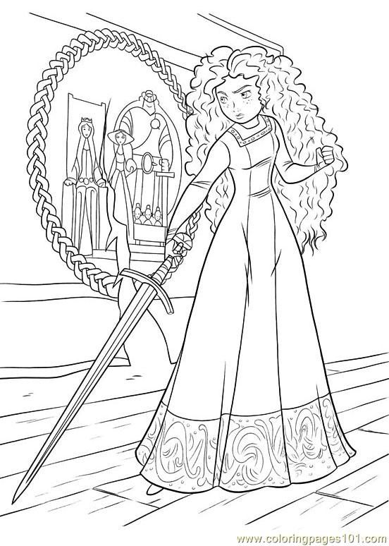 Brave Coloring Page Disney Coloring Pages Cartoon Coloring Pages Princess Coloring Pages