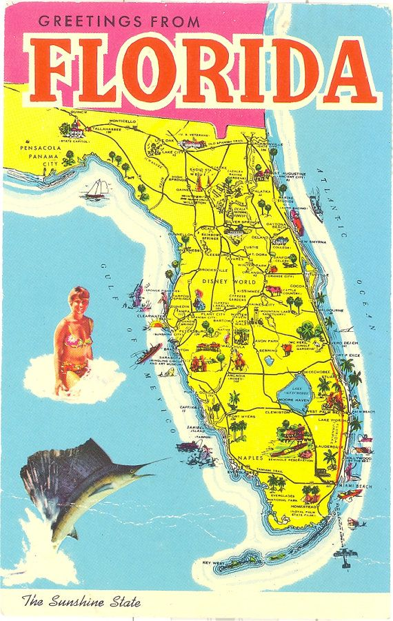 Tourist Map Of Florida Attractions  The Onion  Road Trip