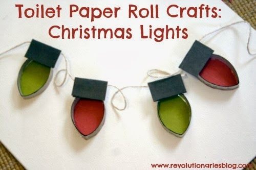 Toilet Paper Roll Crafts: Christmas Lights