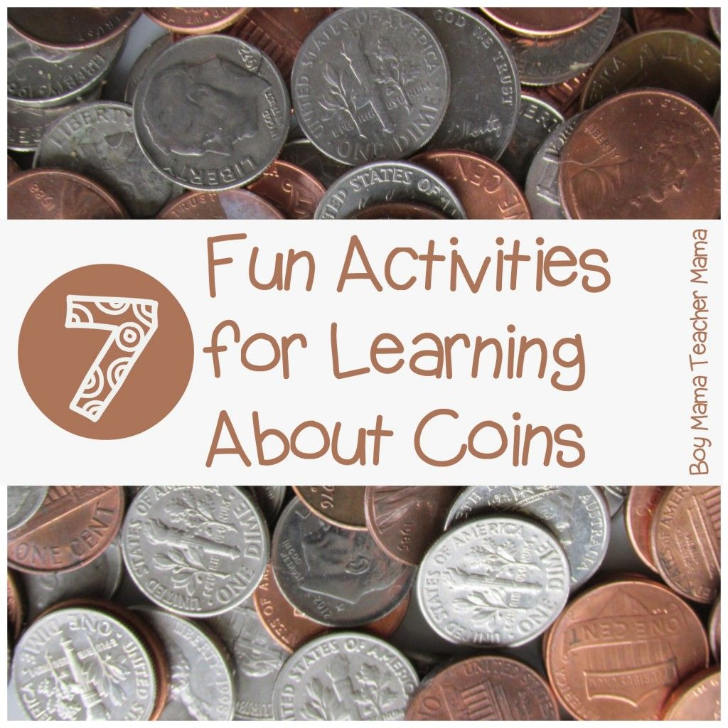 Teacher Mama 7 Fun Activities For Learning About Coins After School Linky