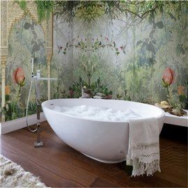 Natural Lush Forest Pattern Design Waterproof 3d Bathroom Wall Murals Wall Murals Bathroom Wall Mural Custom Wall Murals