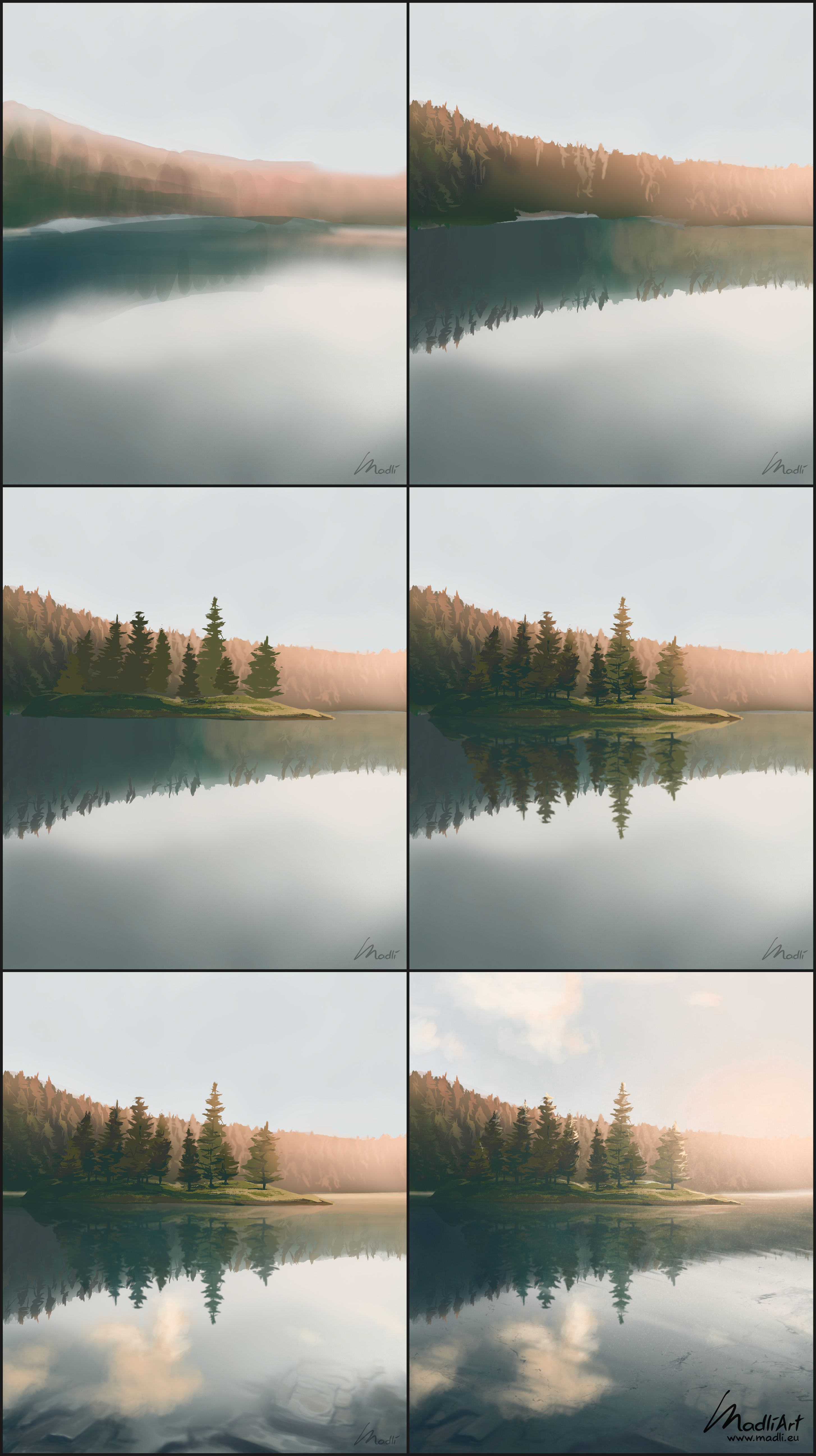 Digital Landscape Painting Step By Step Guide Digital Painting Techniques Digital Painting Landscape Paintings