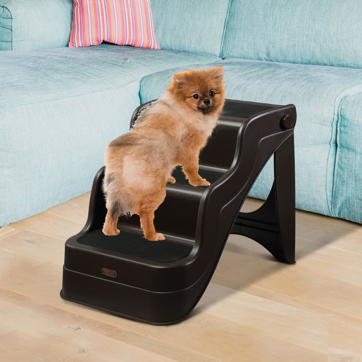 Details About Pawhut Portable 3 Steps Ramp Ladder For Pets Dog And Cat In Brown Dog Ramp Pet Ramp Dog Cat
