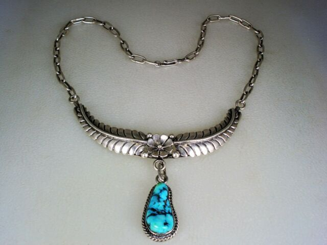 Goldia Sterling Silver Turquoise Pendant