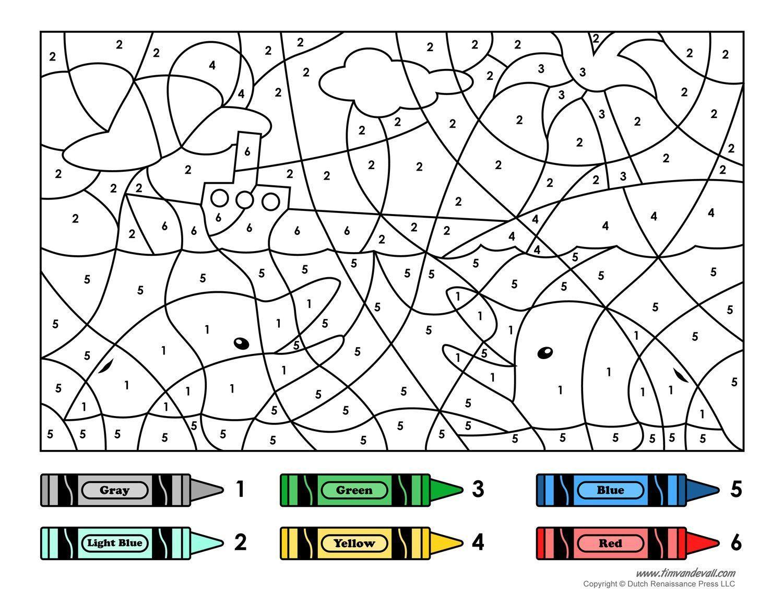 Printable Worksheets Color By Number In