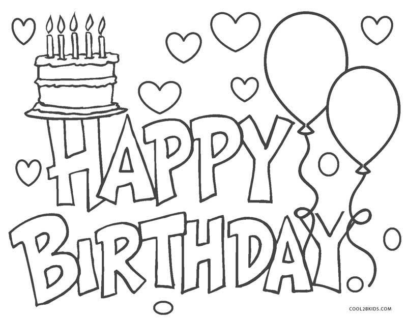 Free Printable Happy Birthday Coloring Pages For Kids In 2021 Happy Birthday  Coloring Pages, Birthday Coloring Pages, Coloring Pages For Kids