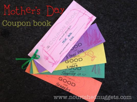 Mothers Day Coupon Book Craft Idea Plus A Printable Coupon Template