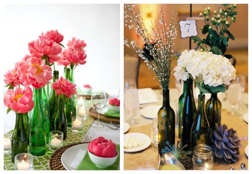 Ideas para decorar con botellas recicladas mesas blog y - Ideas para decorar botellas ...