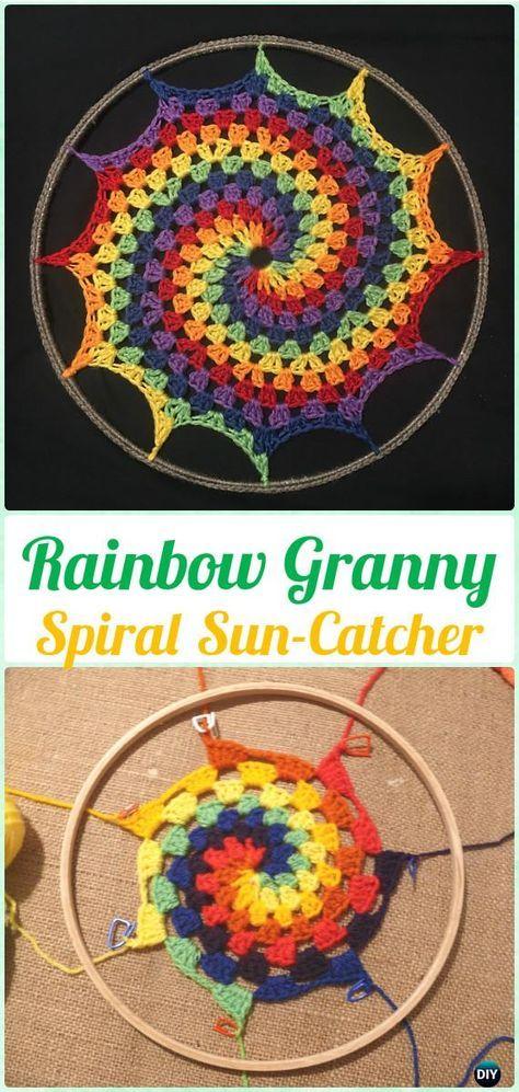 Crochet DreamCatcher & SunCatcher Free Patterns   Mandalas ...