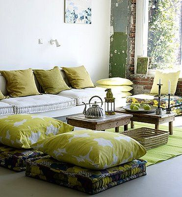 low seating furniture living room. green color pallate sofa cushion livingroom low seating  living