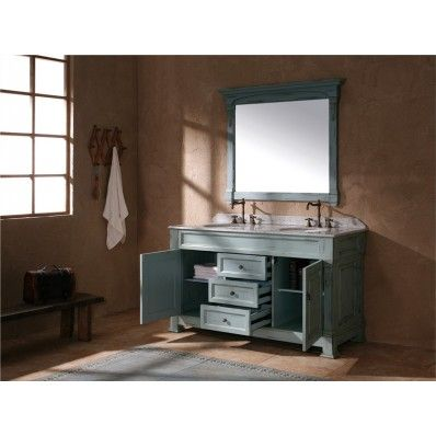 60inch Bosco Ancient Blue Double Vanity by James MartinModel # 147