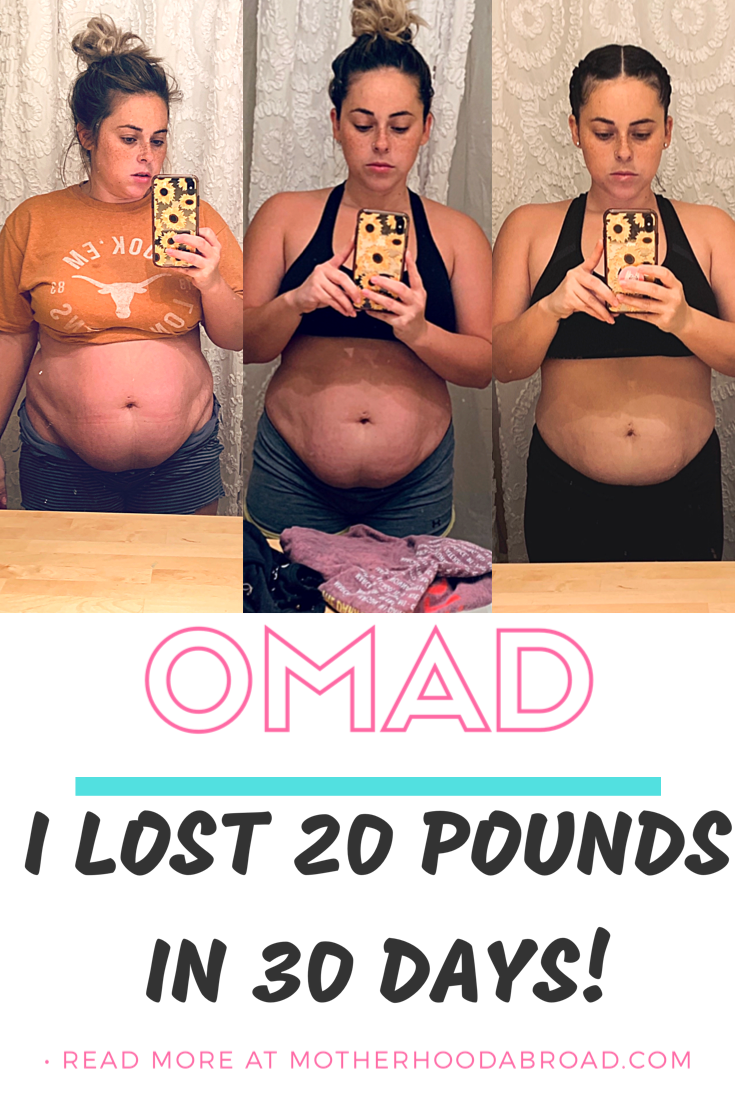 30 Day Omad Results : results, WEIGHT
