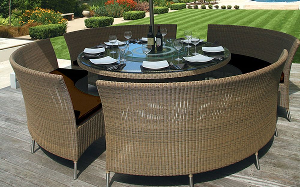 Delectable Round Outdoor Dining Tables Ideas Outdoor Dining Sets