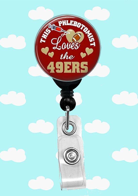 ***Please view all Images before selecting products***  This listing is for ONE (1) Retractable Badge Reel No Twist with a swivel Alligator Clip, Stethoscope Id Tag or Lany... #lanyard #sports #college #collegiate #nfl #phlebotomist #phlebotomy #49ers