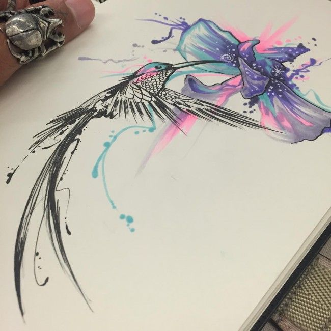 130 Best Watercolor Tattoo Designs Meanings: 130 Best Hummingbird Tattoo Designs [2017 Collection