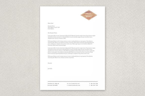 Textured Carpentry Letterhead Template  This Design Features A