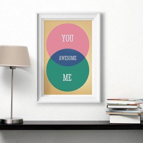 personalisiertes venn diagramm valentinstagsgeschenke. Black Bedroom Furniture Sets. Home Design Ideas