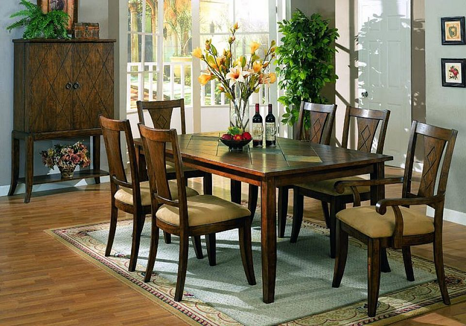 Exceptionnel Wood Dinning Room Sets | Dark Wood Dining Room Set Kitchen Table Chair