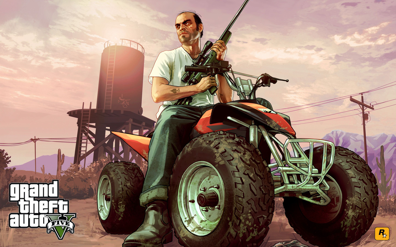 Trevor On Atv Gta 5 Http 1sthdwallpapers Com Trevor On Atv Gta 5 Hd Wallpapers Grand Theft Auto Gta Grand Theft Auto 1