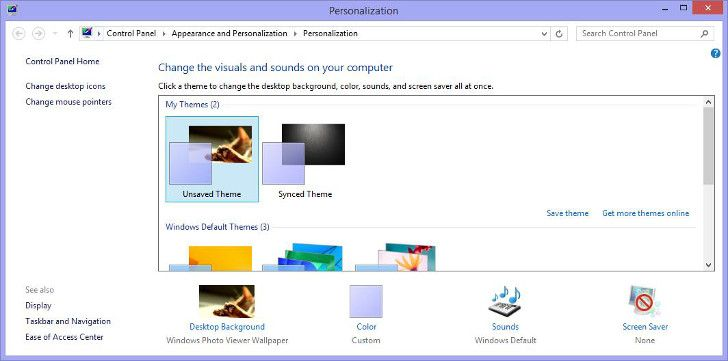 Windows 8 1 Blocks Most Personalization Settings If No Activation Is Made Http News Softpedia Com News Non Activated Windows Microsoft Windows Desktop Icons