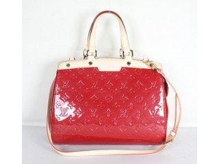 5c220950625b Louis Vuitton M91619 Monogram Vernis Tote Bag - Red Lv Handbags