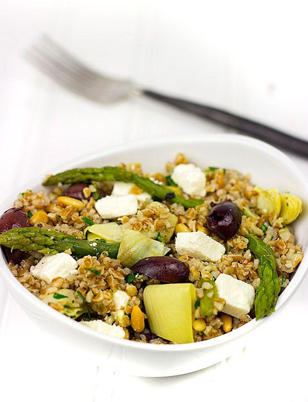Mediterranean Bulgur Salad with Grilled Flank Steak   Spiced