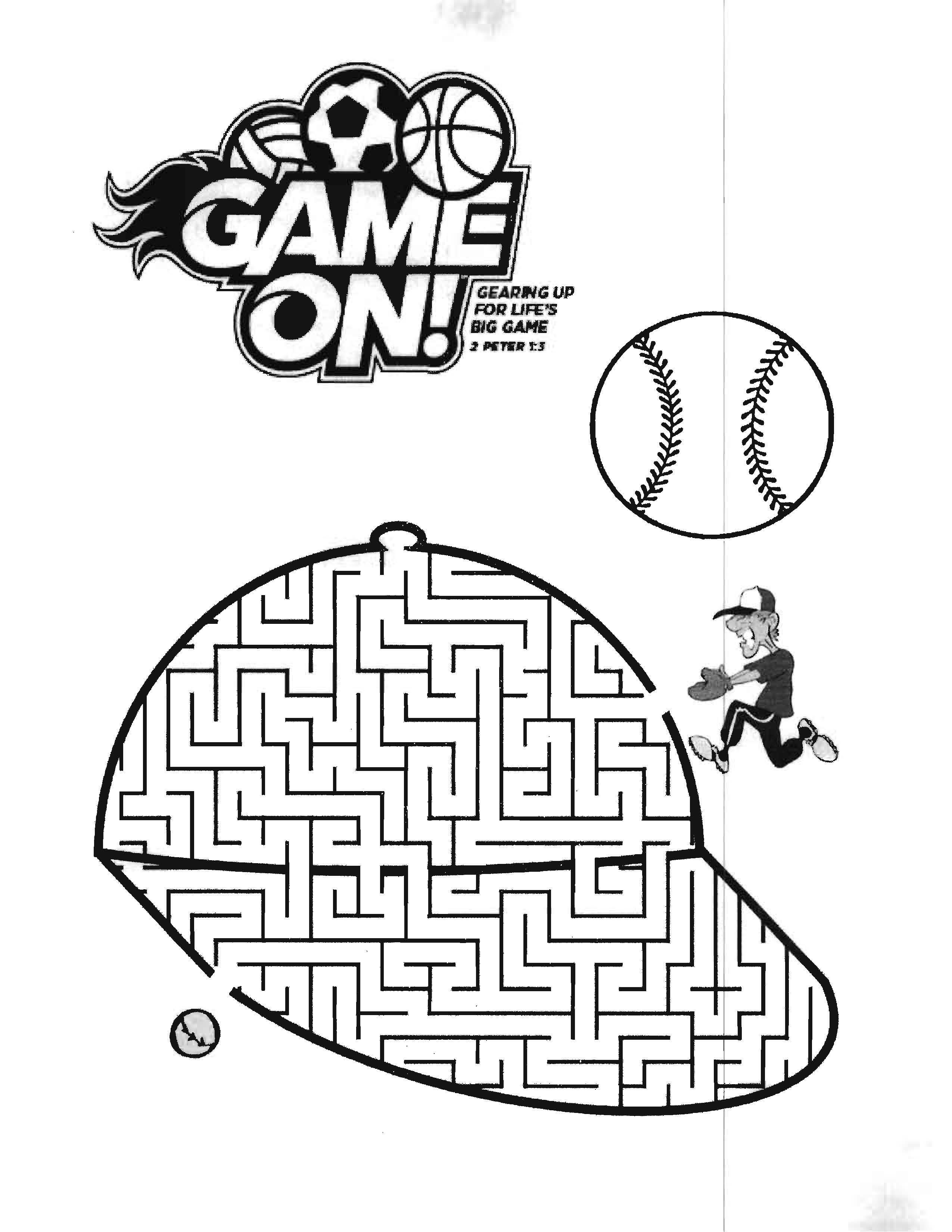 Game On Vbs 2018 Coloring Sheet Vbs 2018 Game On