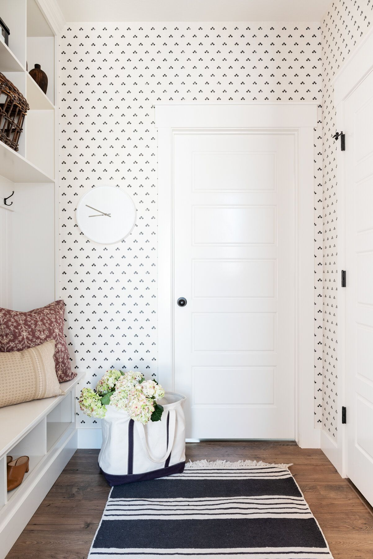 elements of a mudroom print wallpaper laundry room on laundry room wall covering ideas id=62727