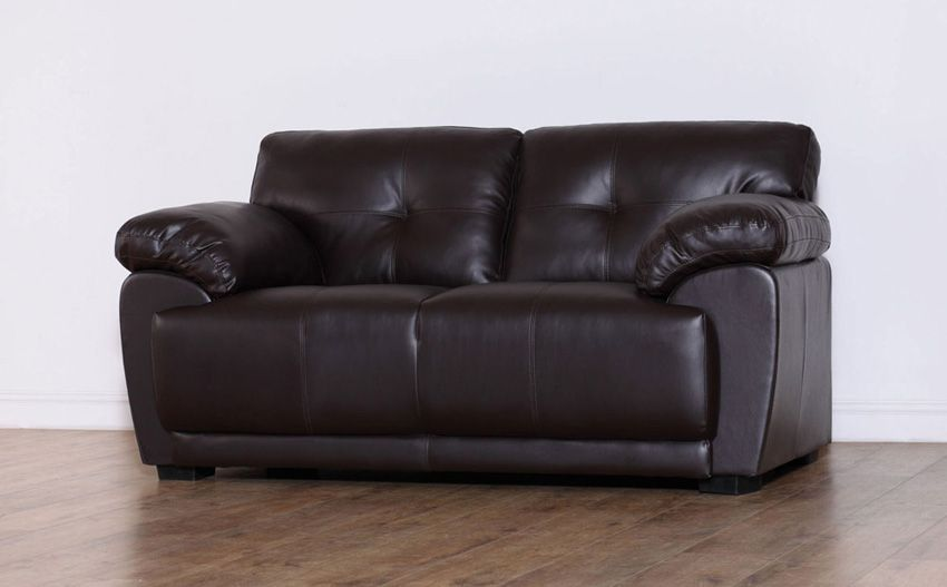 Awesome Sienna Brown 2 Seater Leather Sofa Only 299 99 Furniture Onthecornerstone Fun Painted Chair Ideas Images Onthecornerstoneorg