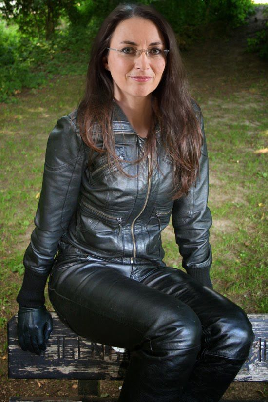 Yasmin Fahimi Spd In All Leather Outfit By