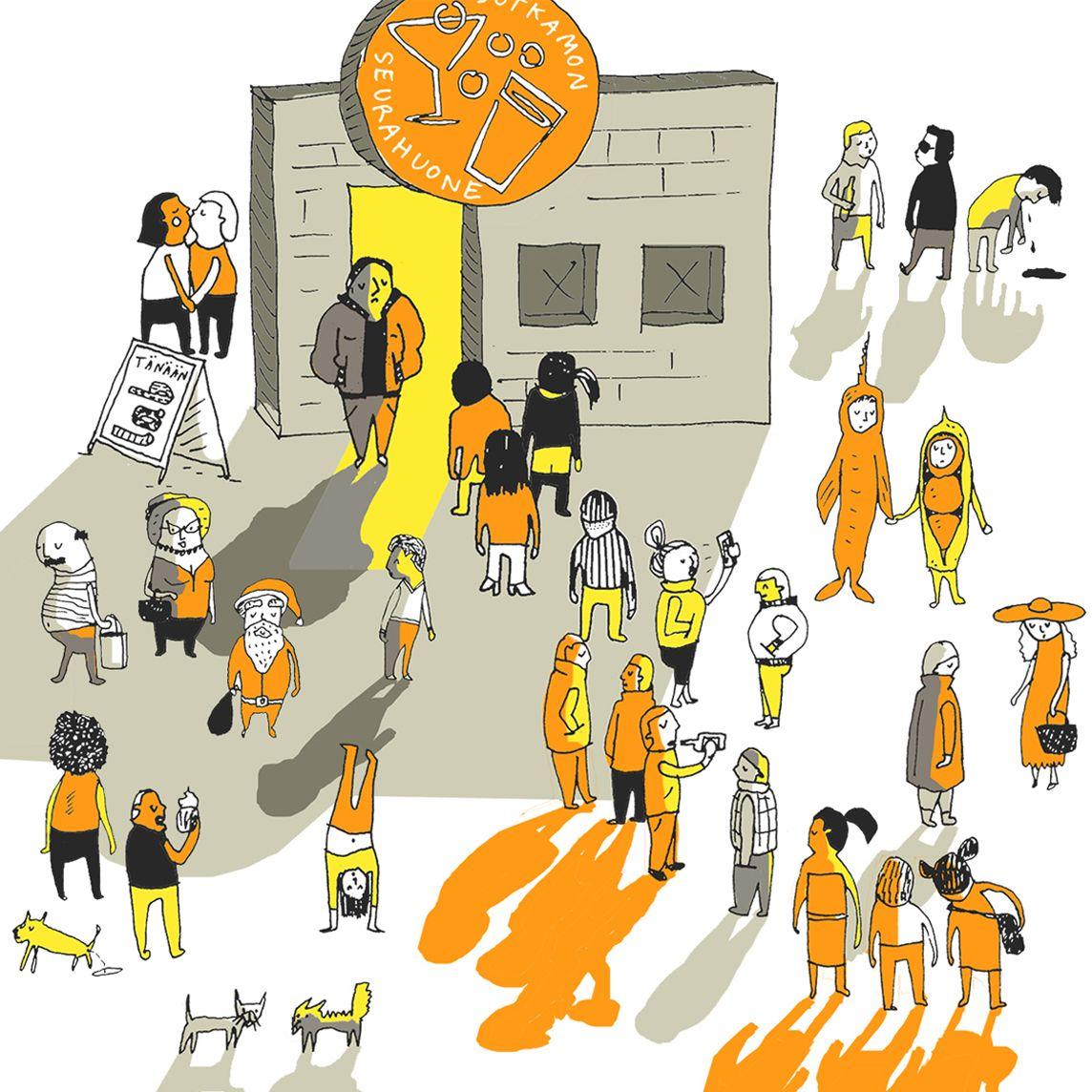 """Jenna Kunnas, """"Kylillä"""" pattern illustration for Finlayson, 2016"""