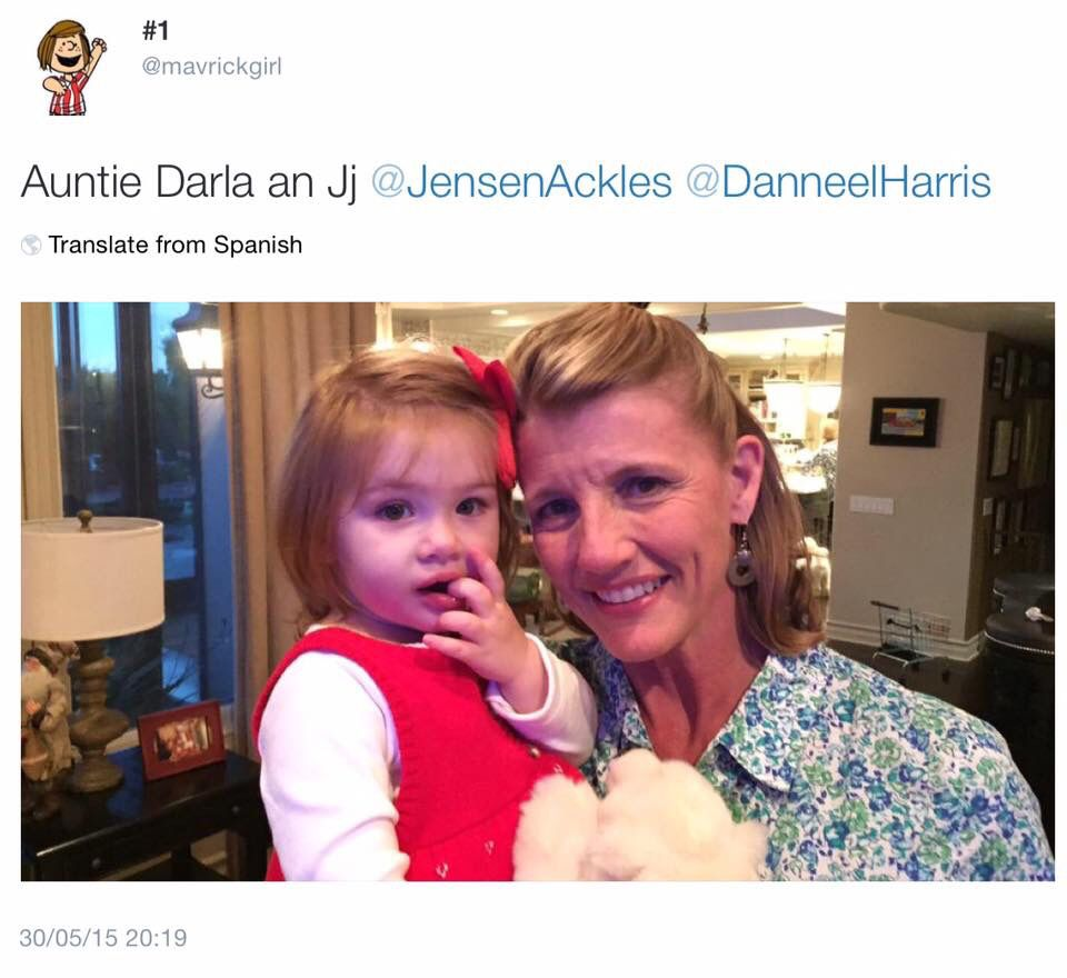 Jensen's aunt, Darla, with JJ at Christmas :)