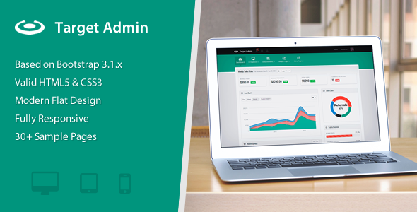 Target  Responsive Bootstrap  Admin Template  Dashboard